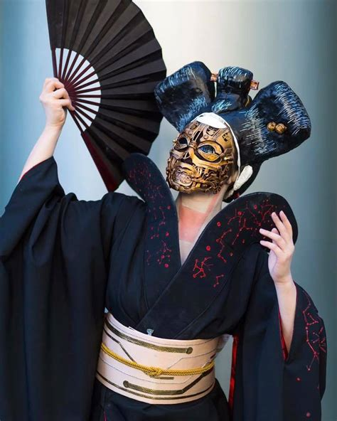 Ghost in the Shell Robot Geisha with Mask WIP « Adafruit