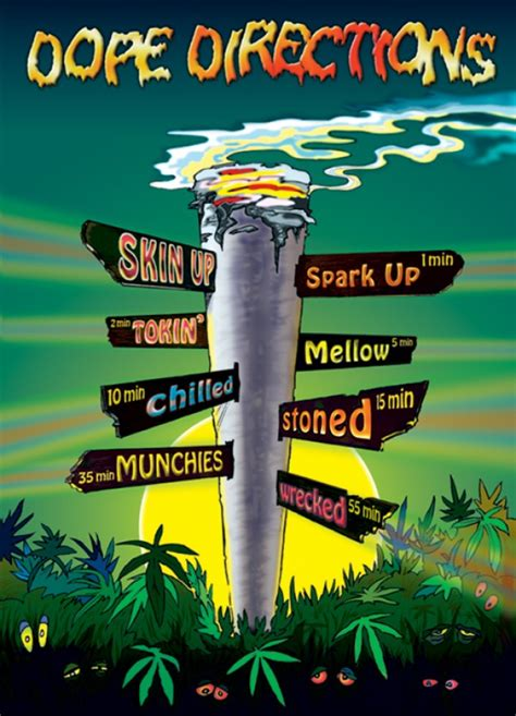 Cannabis posters - Cannabis Dope Directions poster PO7002