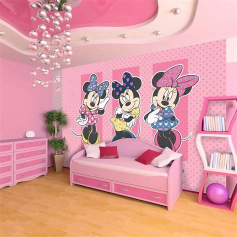 This pretty in pink digital mural featuring Disney's most