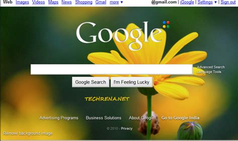 How To Add A Background Image To Google Homepage - TECHRENA