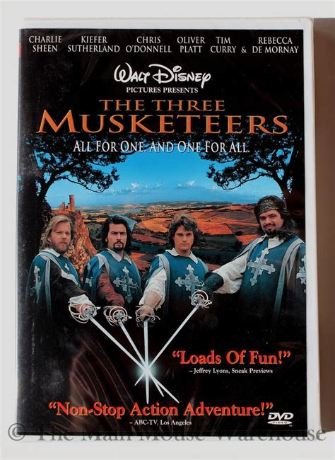 Details about Disney The Three Musketeers Live Action