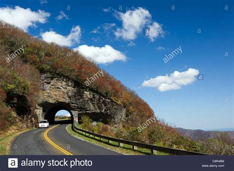 Craggy Pinnacle Tunnel on the Blue Ridge Parkway - near