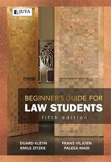 Book release: Juta's Beginner's Guide for Law Students