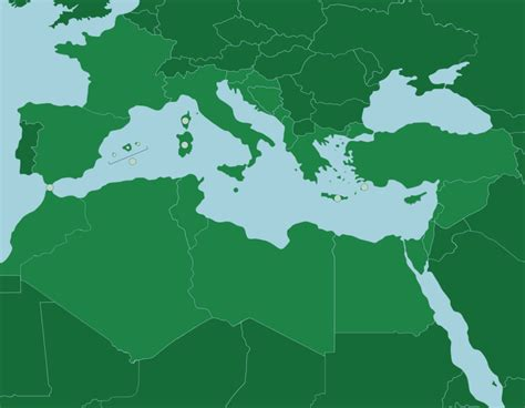 The Mediterranean Sea: Countries and Islands - Map Quiz Game