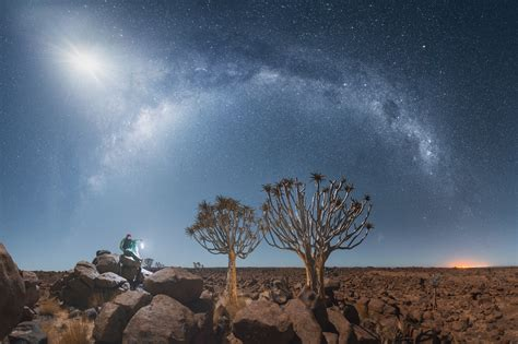 Swirling Star Trails Captured Over the Namib Desert by