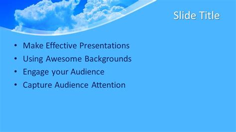 Free Air PowerPoint Template - Free PowerPoint Templates