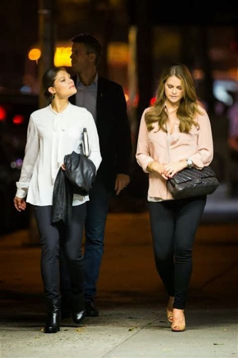 Crown Princess Victoria and Princess Madeleine in New York