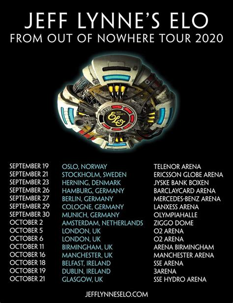 Jeff Lynne's ELO Announce From Out Of Nowhere UK And