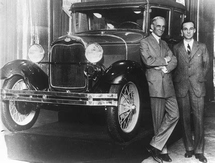 Henry Ford, American car manufacturer, with his son Edsel