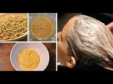 DIY Fenugreek Seeds Hair Mask For Thin,Dry and Damaged