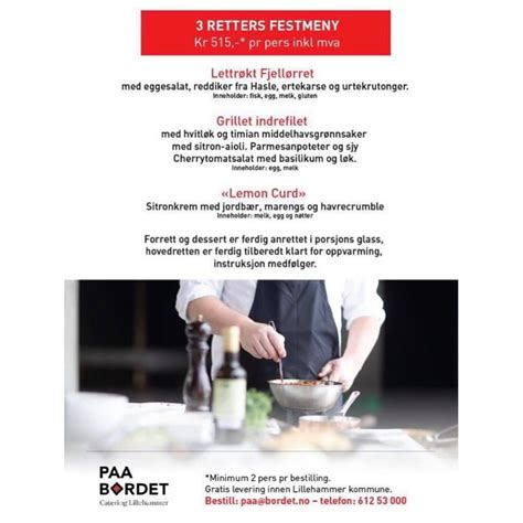 Paa Bordet Catering - Caterer - Lillehammer, Norway