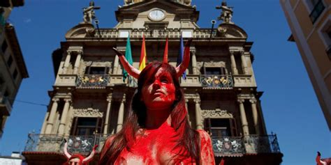 Topless Protesters Assemble at Bullfighting Event in