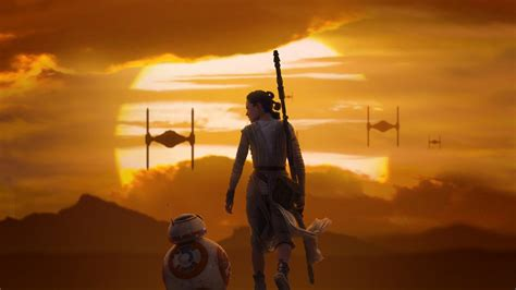 Rey & BB 8 Star Wars The Force Awakens Wallpapers   HD