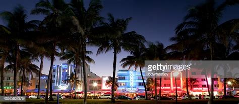 Panorama Of Nightlife On Ocean Drive South Beach Miami