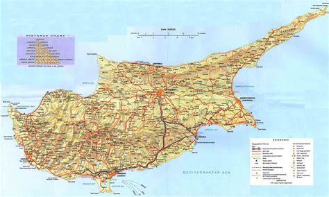 Cyprus Map – Clickable Map of Cyprus – Paphos-Nicosia