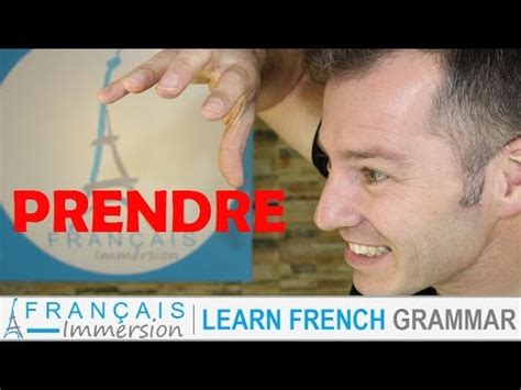 PRENDRE Conjugation & Meaning (to take) + FUN! (Learn