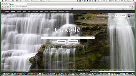 How To Change Your Google Home Page Background Image - YouTube