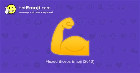 Muscle Emoji Meaning with Pictures: from A to Z