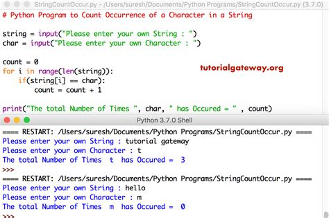 Python Program to Count Occurrence of a Character in a String