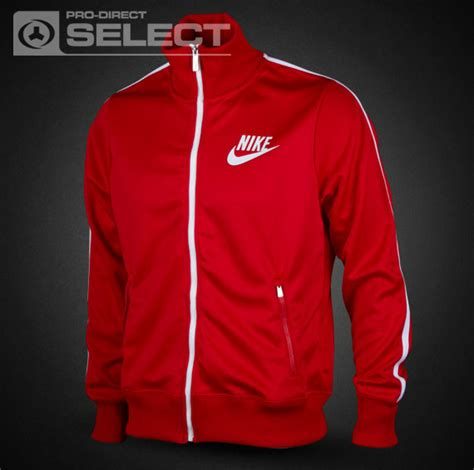 Nike HBR Track Jacket - Mens Select Clothing - Sport Red-Red