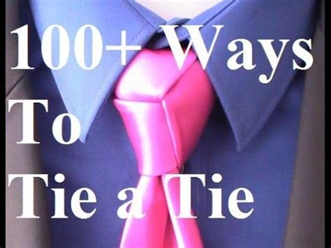 How To Tie a Tie Trinity Knot for your Necktie - YouTube