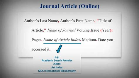 MLA Style Works Cited List: Citing Journal Articles - YouTube