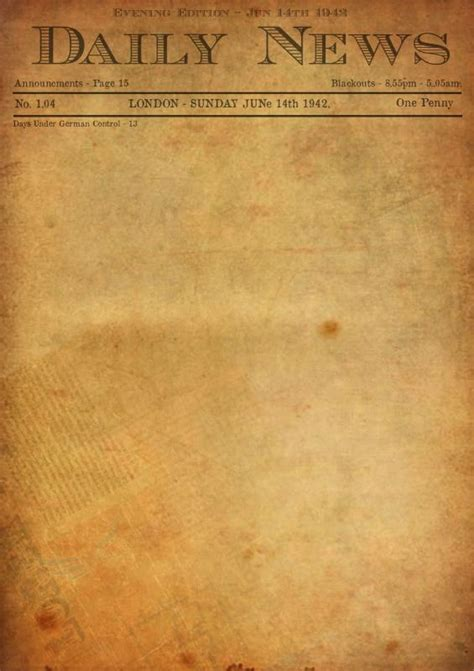 Old Newspaper Template Word | shatterlion