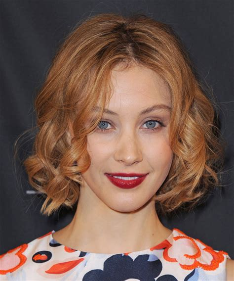 Sarah Gadon Short Curly Casual Hairstyle - Ginger Red Hair