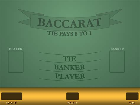 Online Baccarat Game - Play for Free or Real Money