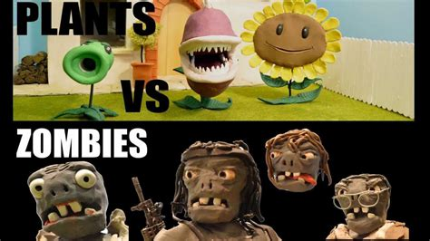 A Claymation, Plants vs Zombies Film Action - YouTube
